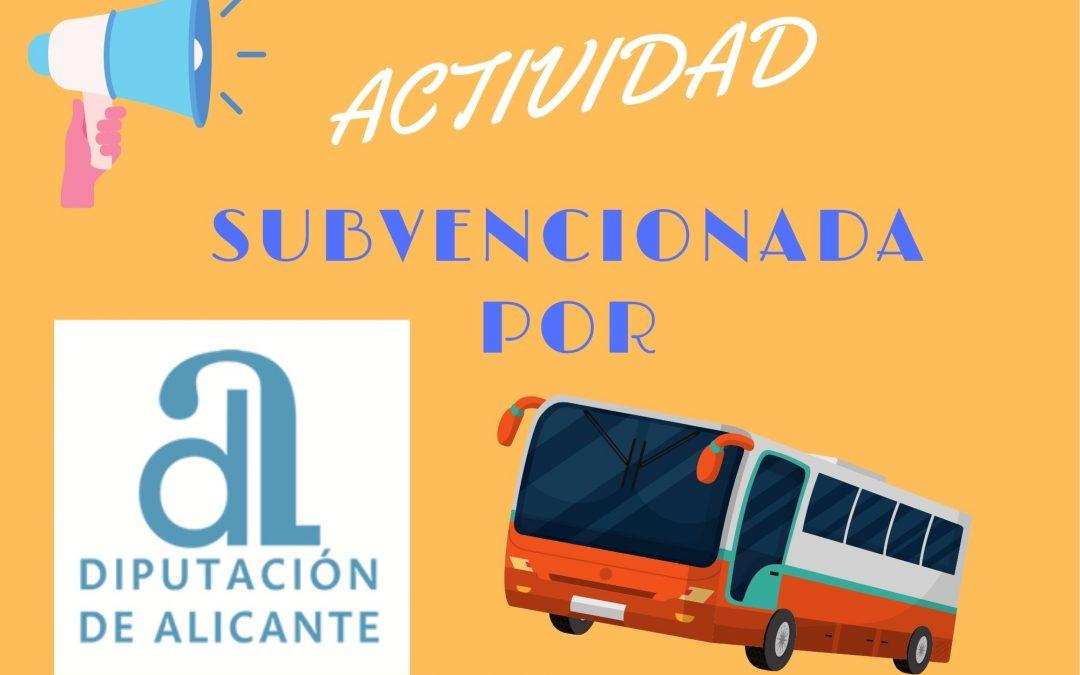 Subvención desplazamiento de ocio por la Diputación de Alicante